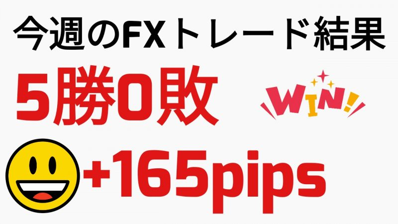 【FX手法検証】第1週目のトレード結果