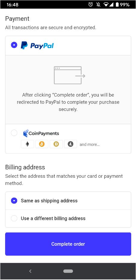 SafePalハードウェアウォレット支払い方法の確認
